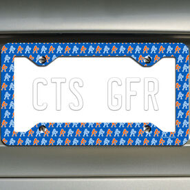 Volleyball License Plate Holder Bump Silhouette Pattern
