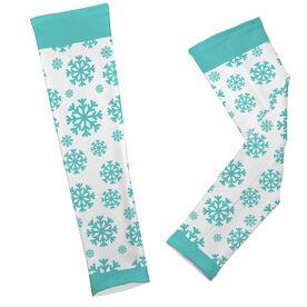 Skiing & Snowboarding Printed Arm Sleeves - Snowflakes