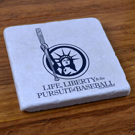 Life Liberty and the Pursuit of Baseball - Stone Coaster