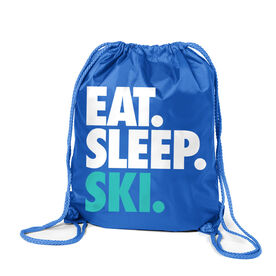 Skiing & Snowboarding Sport Pack Cinch Sack Eat. Sleep. Ski.