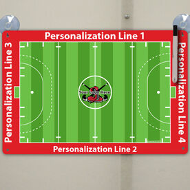 "Field Hockey Custom Dry Erase Coach Board Full Field - 18"" X 12"""