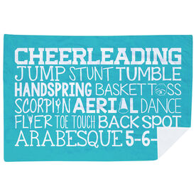 Cheerleading Premium Blanket - Cheer Words