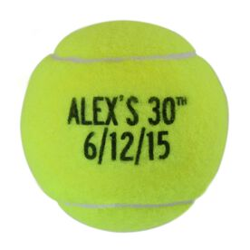 Personalized Birthday With Date Tennis Ball