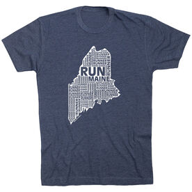 Running Short Sleeve T-Shirt - Maine State Runner