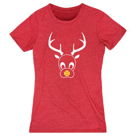 Softball Women's Everyday Tee - Reindeer