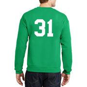 Baseball Crew Neck Sweatshirt - Lucky McCurveball