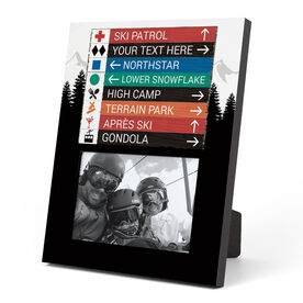 Skiing and Snowboarding Photo Frame - Custom Signs