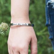 She Believed She Could Cuff Bracelet