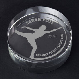 Figure Skating Personalized Engraved Crystal Gift - Customized Camel