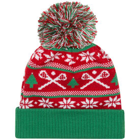 Lacrosse Knit Hat - Crossed Sticks Ugly Sweater