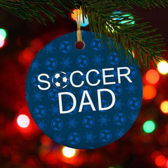 Soccer Porcelain Ornament Dad Ball