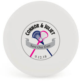 Personalized Save The Date Lacrosse Ball (White Ball)