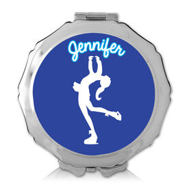 Personalized Figure Skater Color Compact Mirror