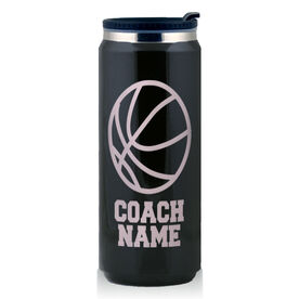 Stainless Steel Travel Mug Basketball Coach