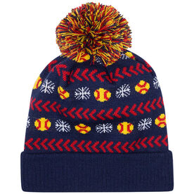 Softball Knit Hat - Snowflake