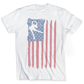Vintage Figure Skating T-Shirt - American Flag