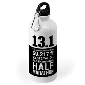 Running 20 oz. Stainless Steel Water Bottle - 13.1 Math Miles