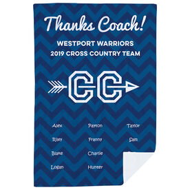 Cross Country Premium Blanket - Personalized Thanks Coach Chevron