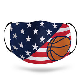 Basketball Face Mask - USA Flag