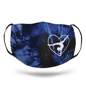 Gymnastics Face Mask - Gymnast Heart with Tie-Dye