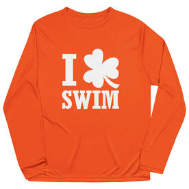Swimming Long Sleeve Performance Tee - I Shamrock Swim