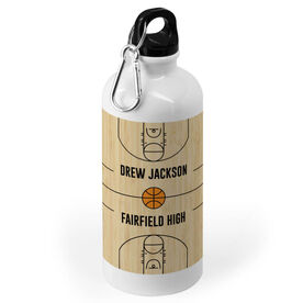 Basketball 20 oz. Stainless Steel Water Bottle - Court