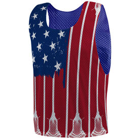 Guys Lacrosse Pinnie - US Lacrosse Flag