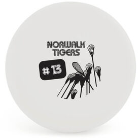 Personalized Team Name and Number Lacrosse Ball (White Ball)