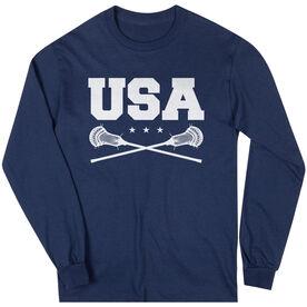 Guys Lacrosse Long Sleeve T-Shirt - USA Lacrosse