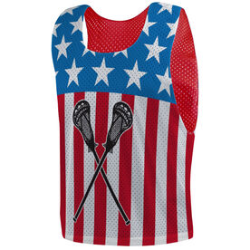 Guys Lacrosse Pinnie - USA Lax [Red / Adult Small / Adult Medium] - SS