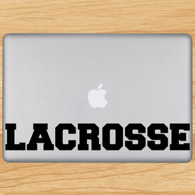 Lacrosse Block Letters Removable ChalkTalkGraphix Laptop Decal