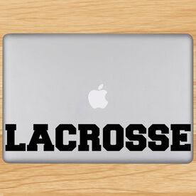 Lacrosse Block Letters Removable ChalkTalkGraphix Laptop Decal