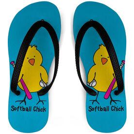 Softball Flip Flops Chick