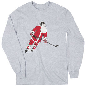 Hockey T-Shirt Long Sleeve Slap Shot Santa