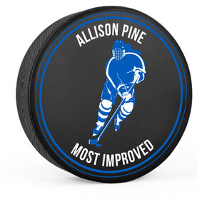 Personalized Hockey Puck - Hockey Girl