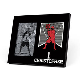 Guys Lacrosse Photo Frame - Goalie Silhouette