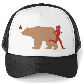 Running Trucker Hat - California Flag Female Runner