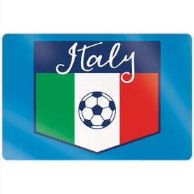 "Soccer 18"" X 12"" Aluminum Room Sign - Italy"