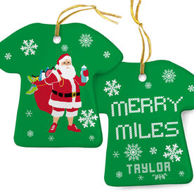 Running Porcelain Ornament Santa Runner