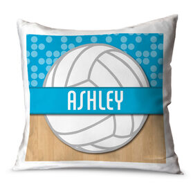 Volleyball Throw Pillow Personalized 2 Tier Patterns With Volleyball