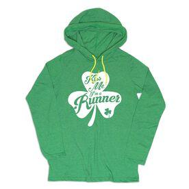 Women's Running Lightweight Hoodie - Kiss A Lucky Runner