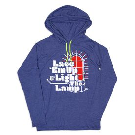 Women's Hockey Lightweight Hoodie - Lace Em Up and Light the Lamp