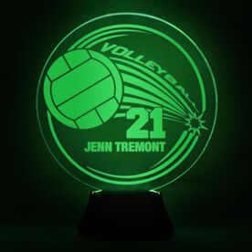 Volleyball Acrylic LED Lamp Spike With 1 Line and Number