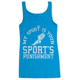 Women's Athletic Tank Top My Sport Is Your Sports Punishment (Athletic)