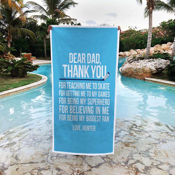 Hockey Premium Beach Towel - Dear Dad