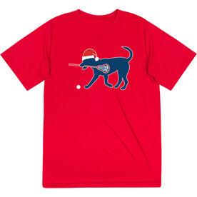 Guys Lacrosse Short Sleeve Performance Tee - Christmas Dog