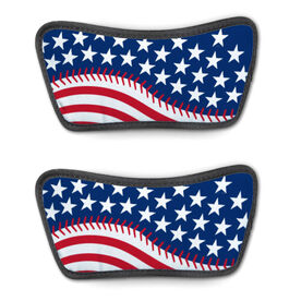 Softball Repwell® Sandal Straps - American Flag Ball