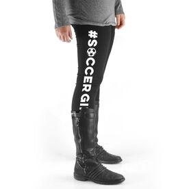 Soccer High Print Leggings - #SoccerGirl