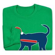 Baseball Crew Neck Sweatshirt - Play Ball Christmas Dog