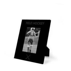 Field Hockey Engraved Picture Frame - Simple Field Hockey